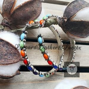Jewelry - Rainbow Stone Hoops